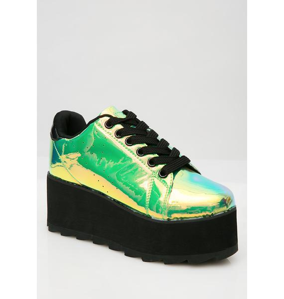 Y.R.U. Spacebound Lala Platform Sneakers