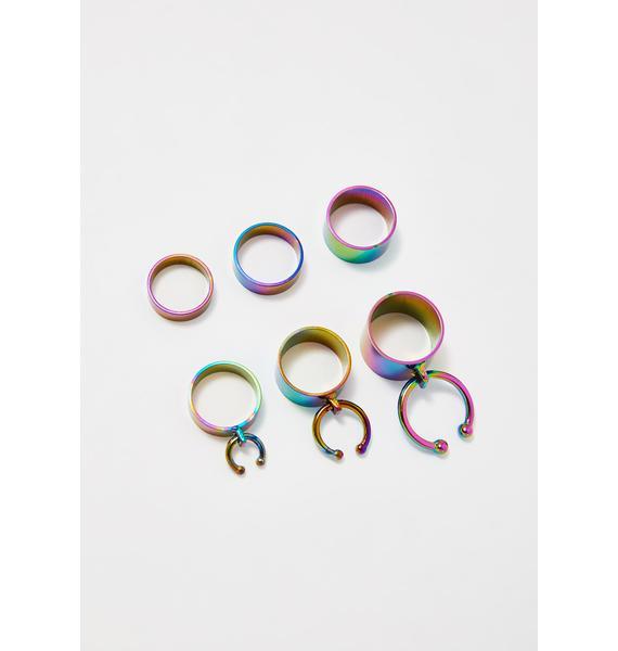 Cosmic Wave Ring Set