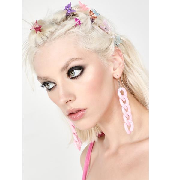 Baby Face Chain Earrings