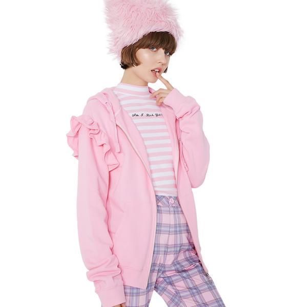 Lazy Oaf Spoilt Pink Hoodie