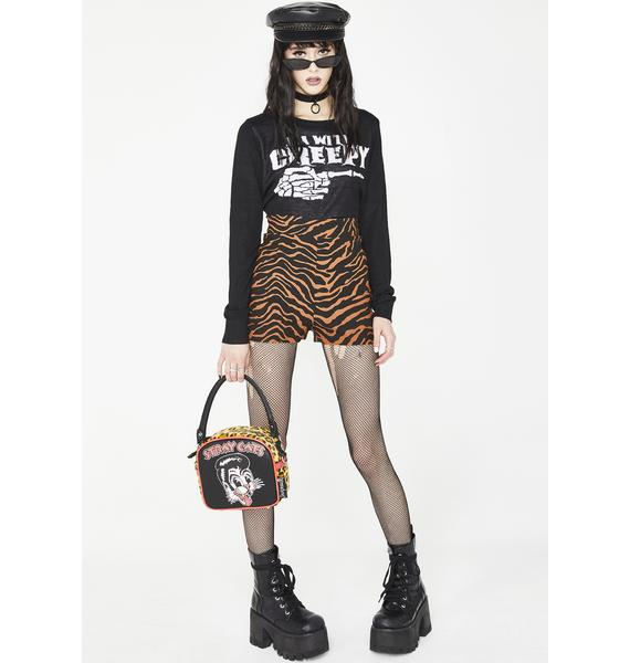 Sourpuss Clothing Tiger Sweetie Pie Shorts