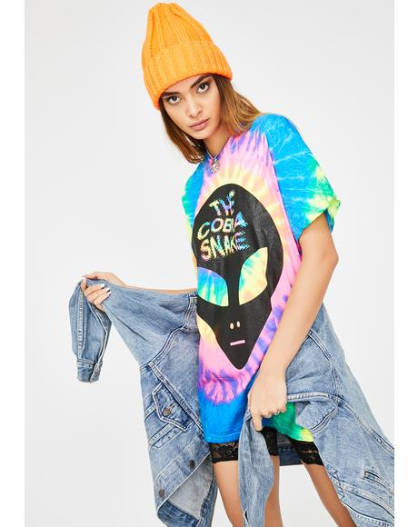 Alien Tie Dye Graphic Tee