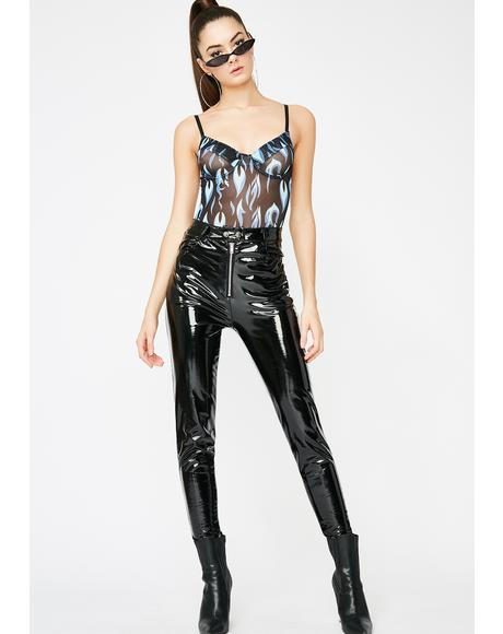 Fuel To The Fire Sheer Bodysuit