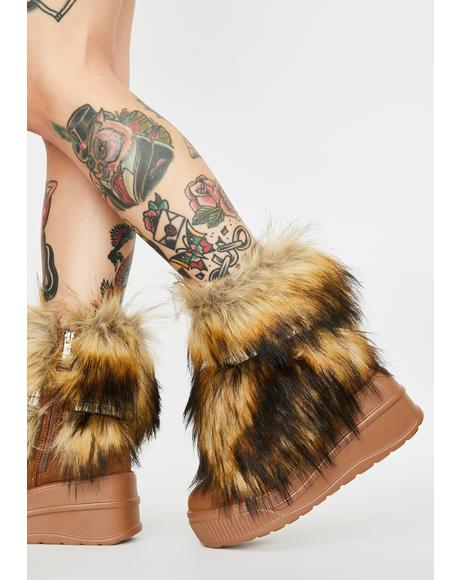 Naturally Abominable Baddie Faux Fur Boots