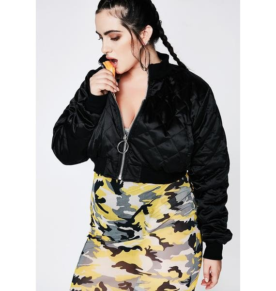 Poster Grl The Switch Up Reversible Bomber