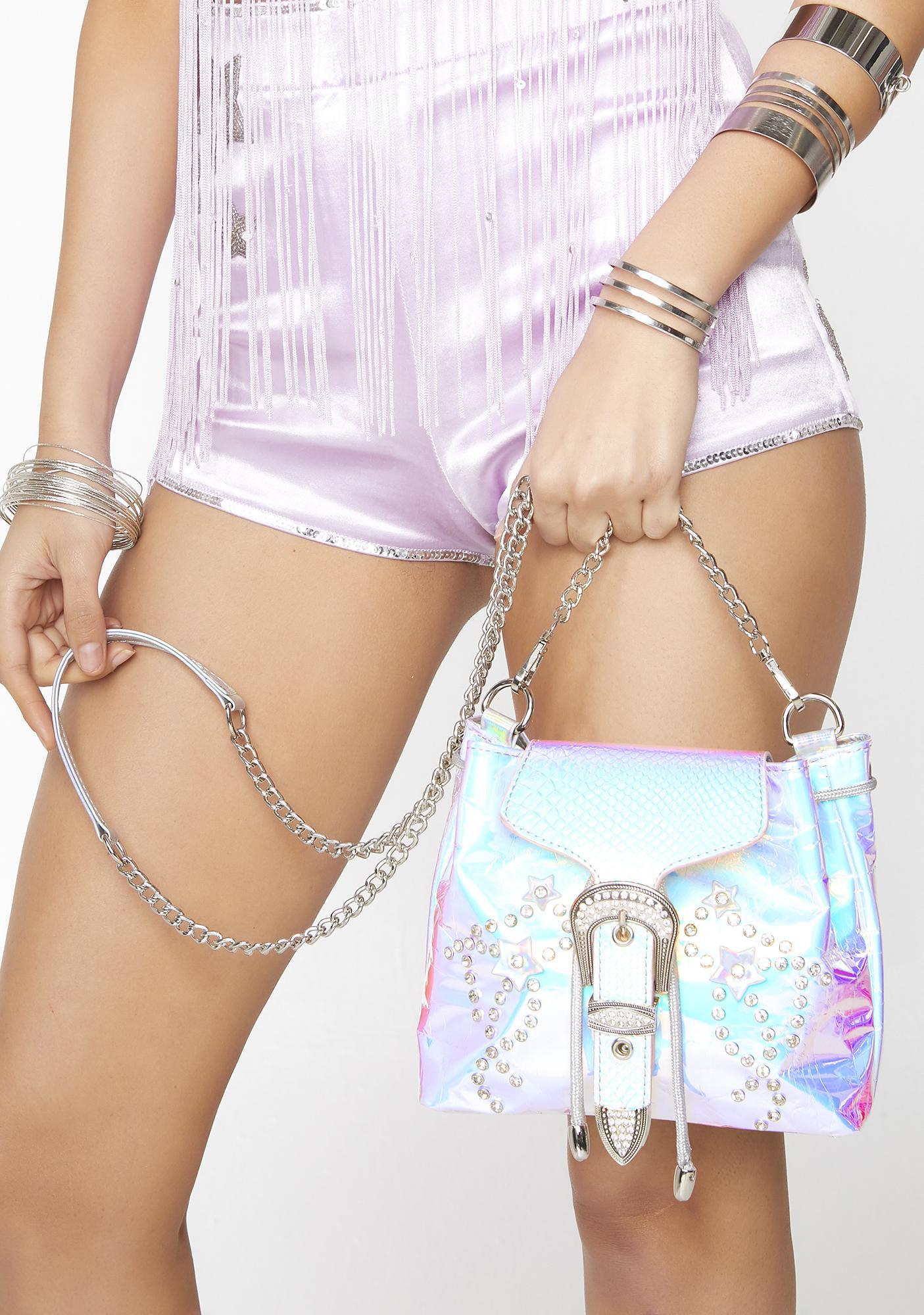 Club Exx Supernova Cowgirl Hologram Bag