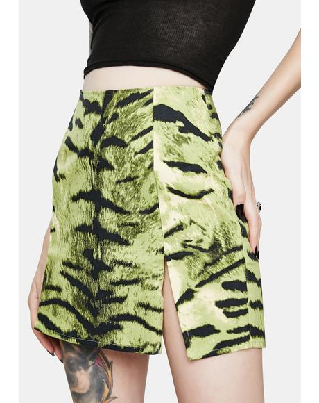 Pelmet Khaki Tiger Mini Skirt