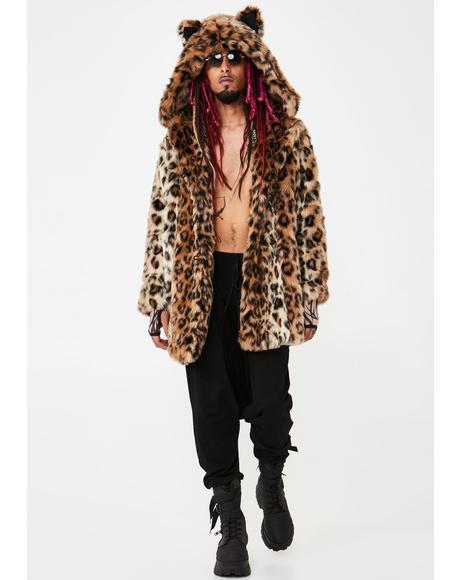 Classic Leopard Faux Fur Coat