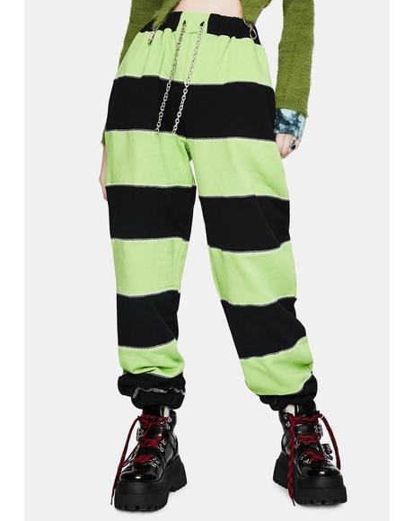 Inmate Striped Jogger Pants