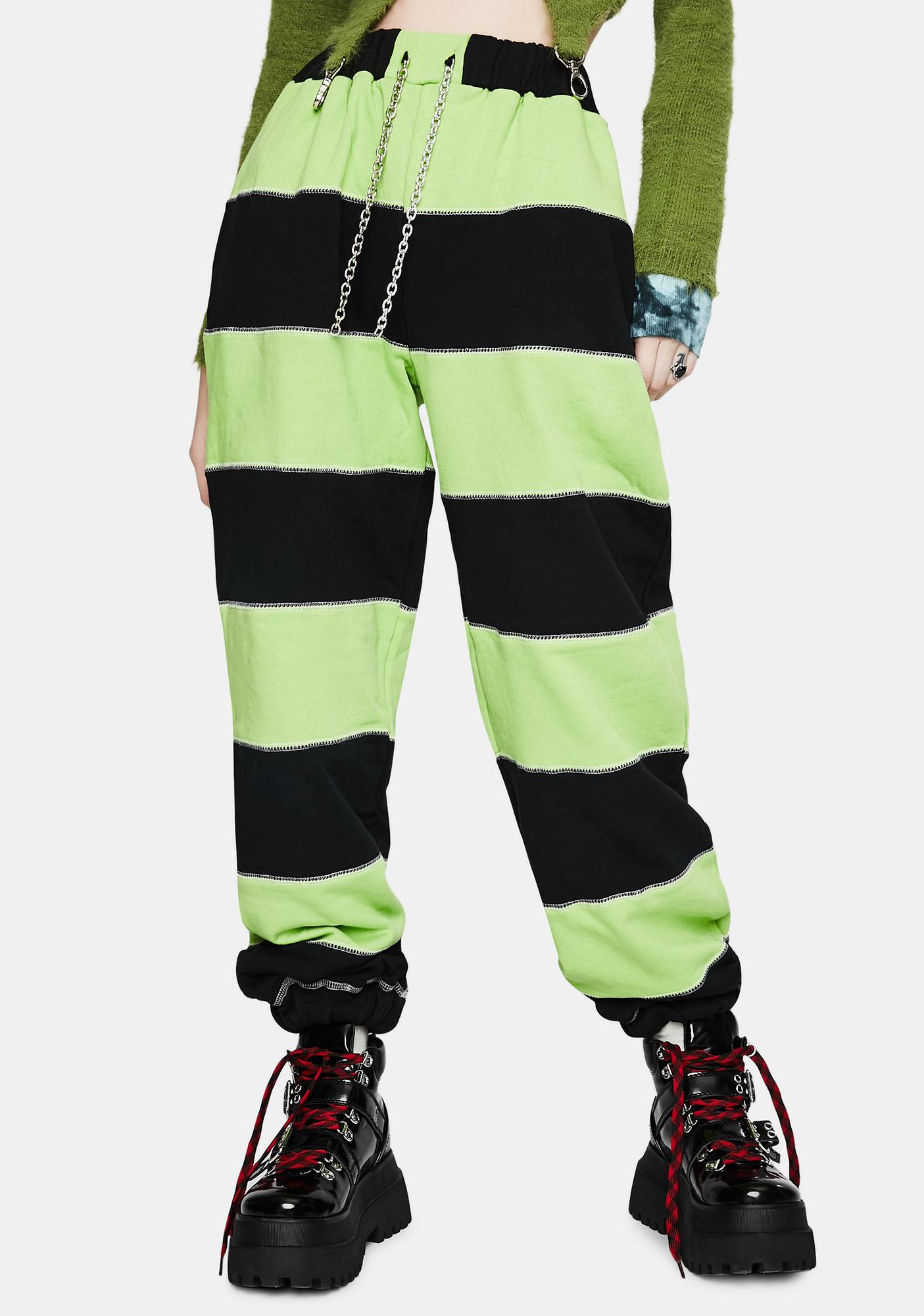 The Ragged Priest Inmate Striped Jogger Pants
