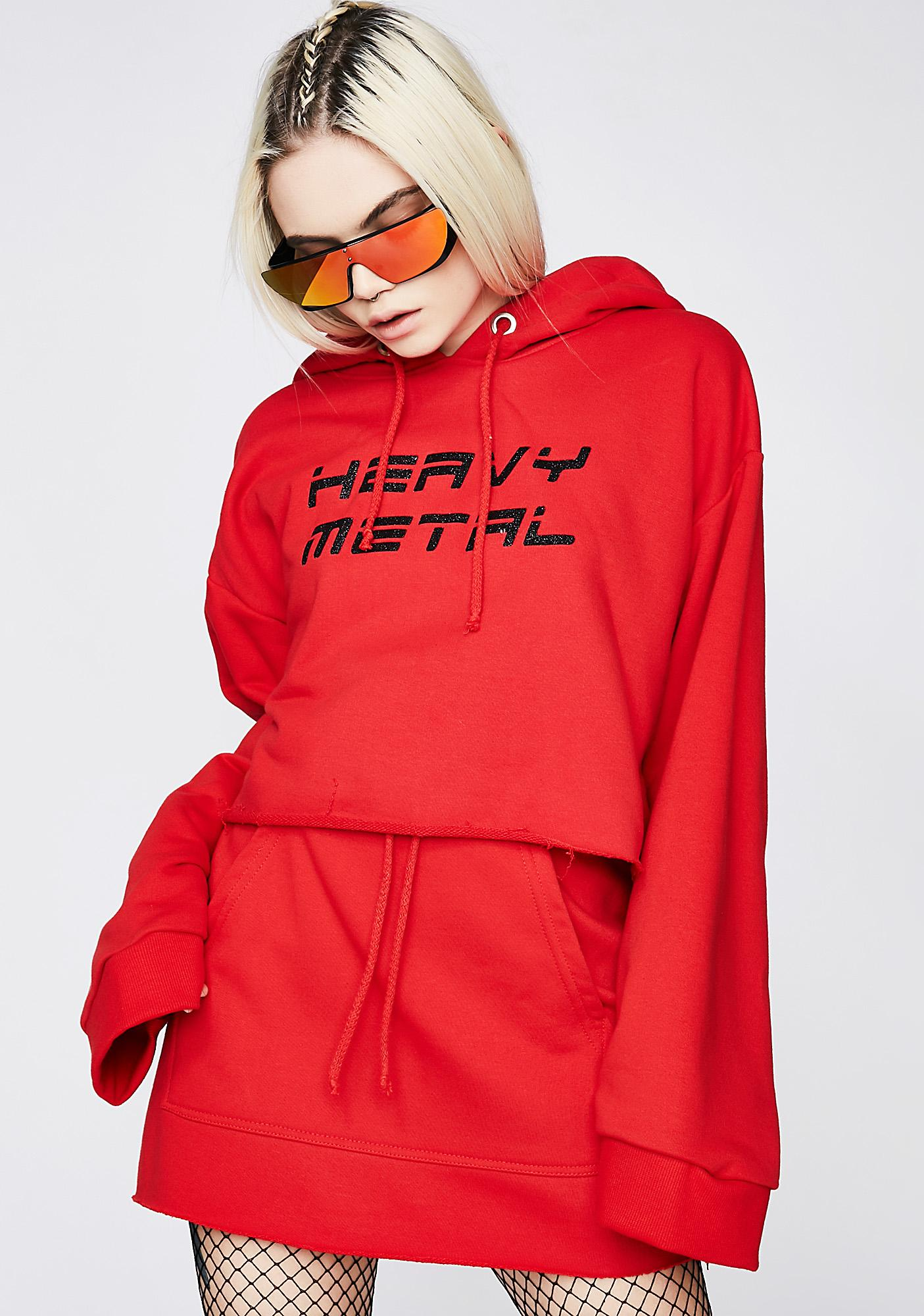 Local Heroes Heavy Metal Cropped Hoodie