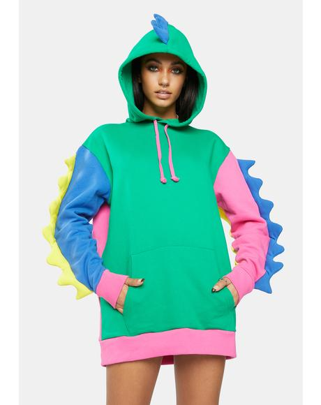 Dino Mighty Colorblock Hoodie
