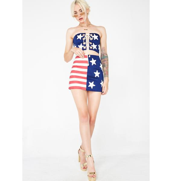 Jagger & Stone The Thelma Flag Mini Skirt
