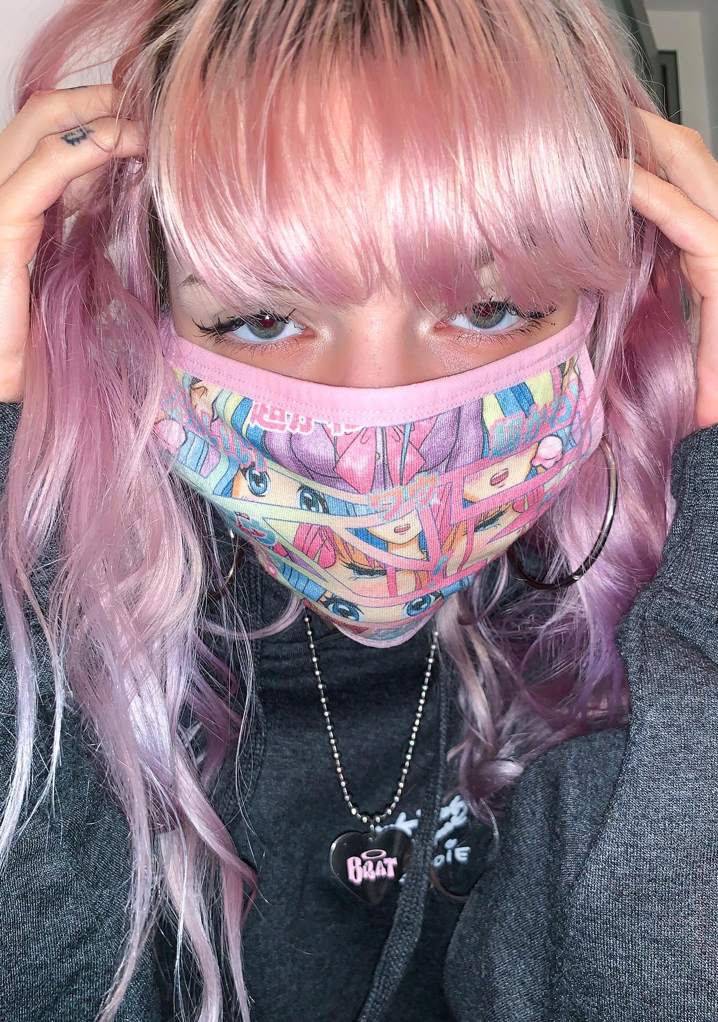 Dolls Kill Comic Scene Cutie Face Mask