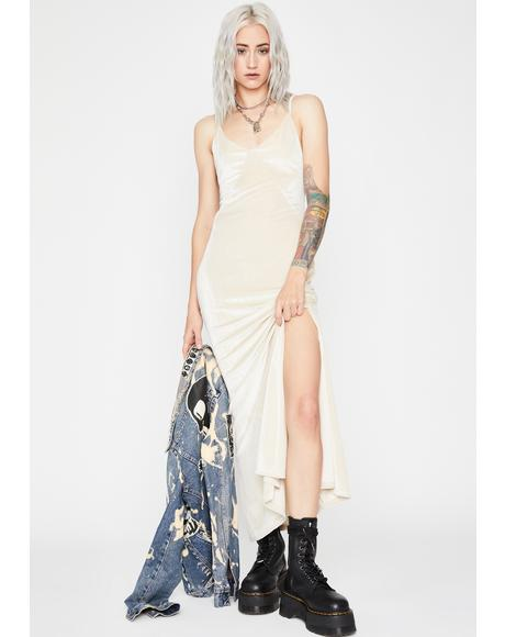 Cream Anonymous Crush Maxi Dress