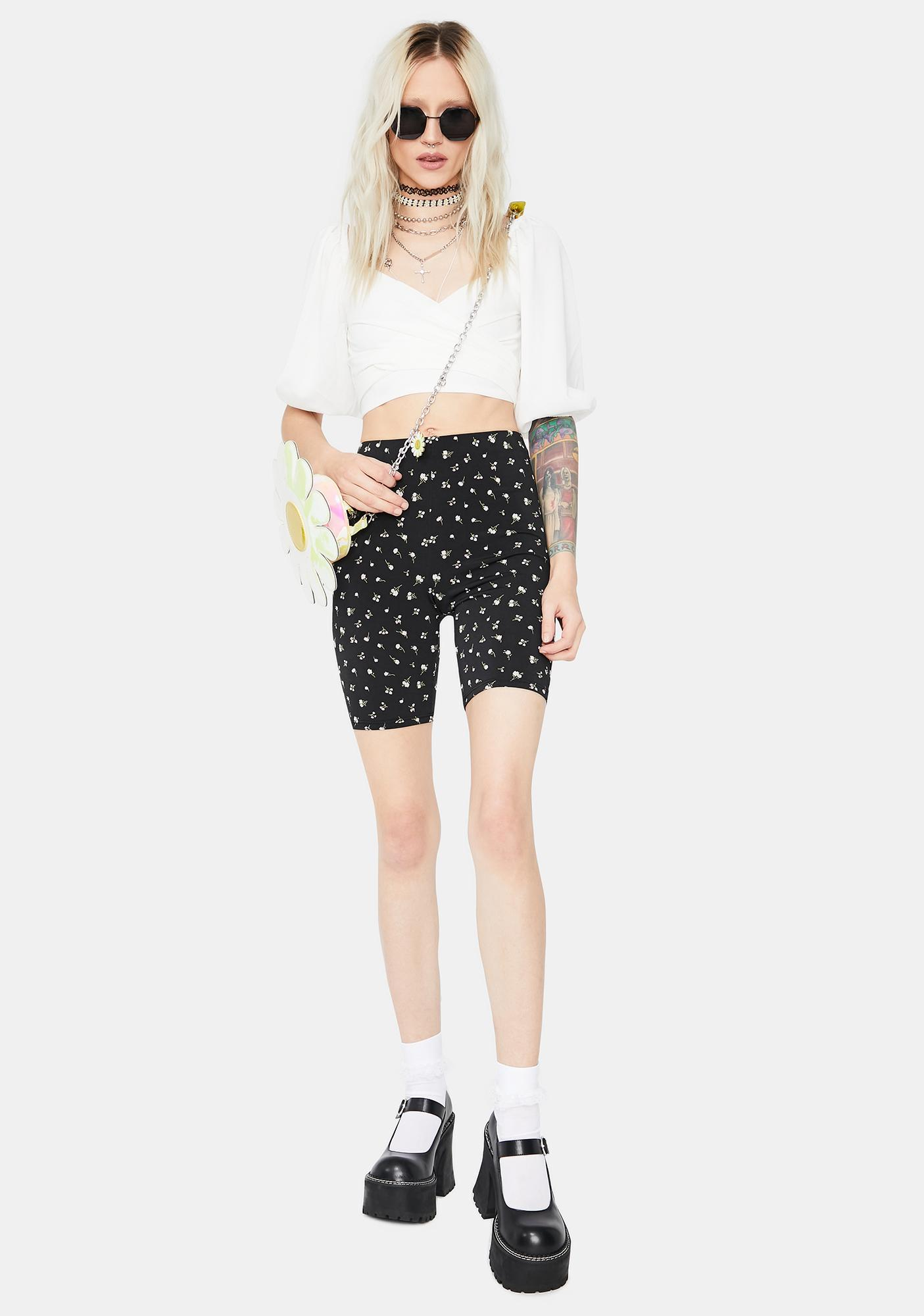 Pure Perfect Poetry Puff Sleeve Crop Top