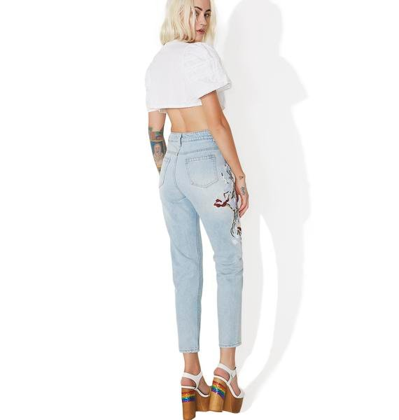Wild Orchid Embroidered Jeans