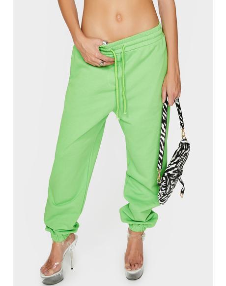 Green Ava Track Pants