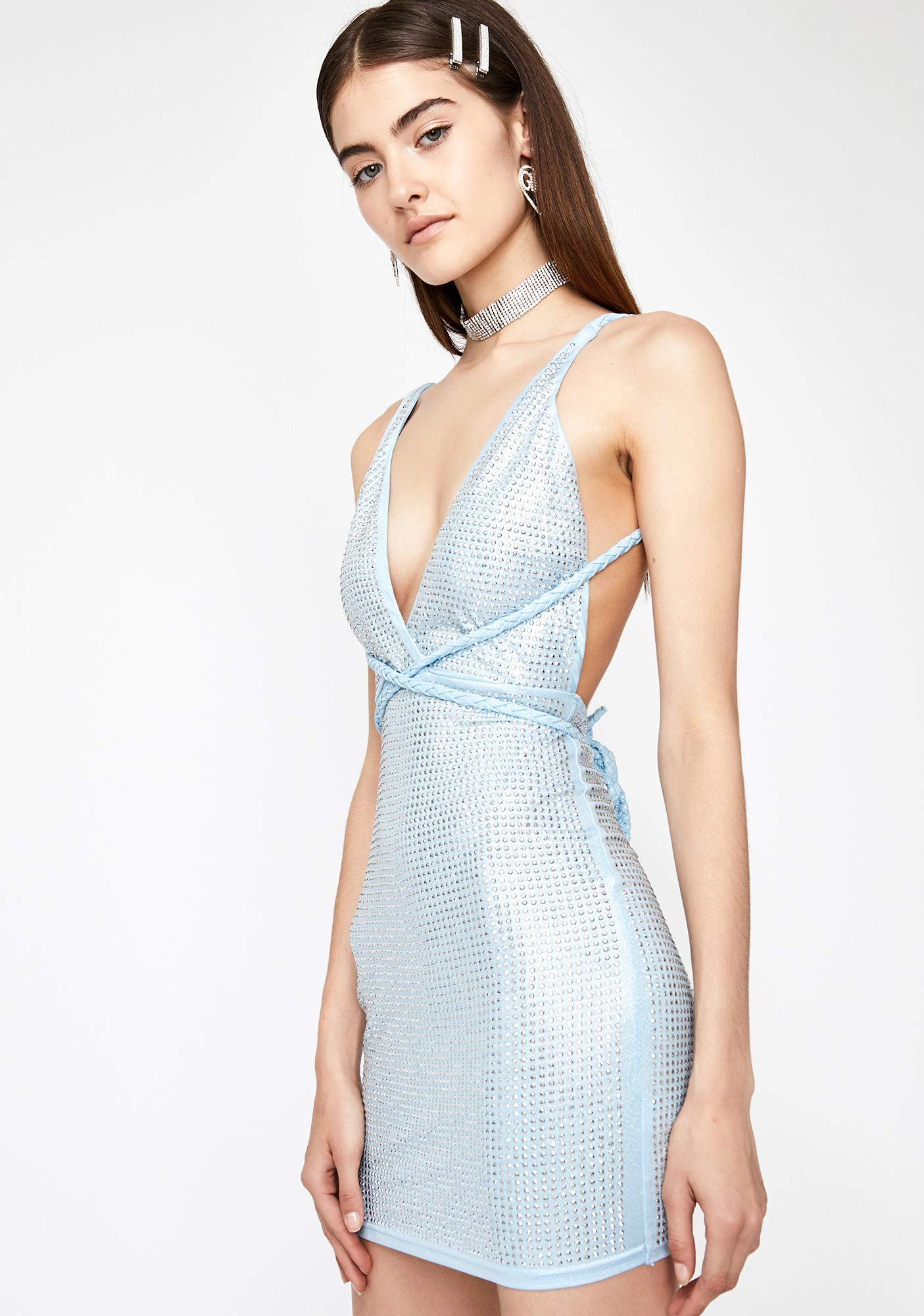 High Class Hunty Metallic Dress