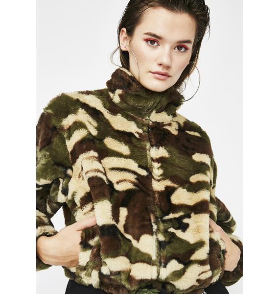 Shady Kitten Fuzzy Jacket