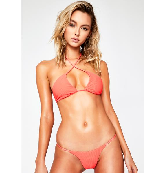 Frankies Bikinis Coral Sara Bikini Bottom