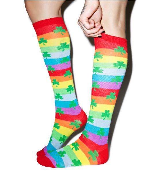 Get Lucky Knee High Socks