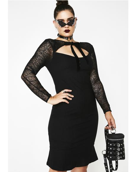 Night Bat To The Bone Dress