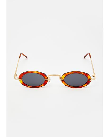 Journey Tortoiseshell Oval Sunglasses