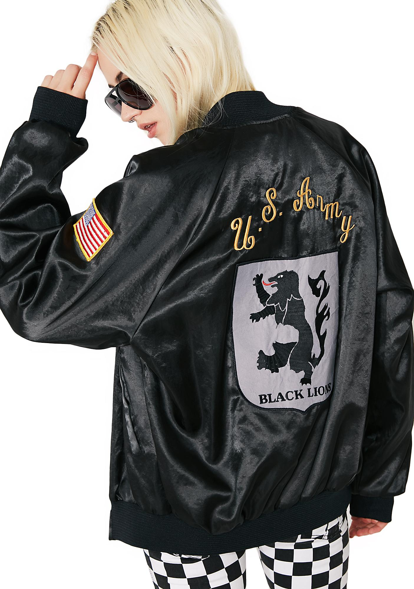 Vintage US Army Black Lions Bomber Jacket