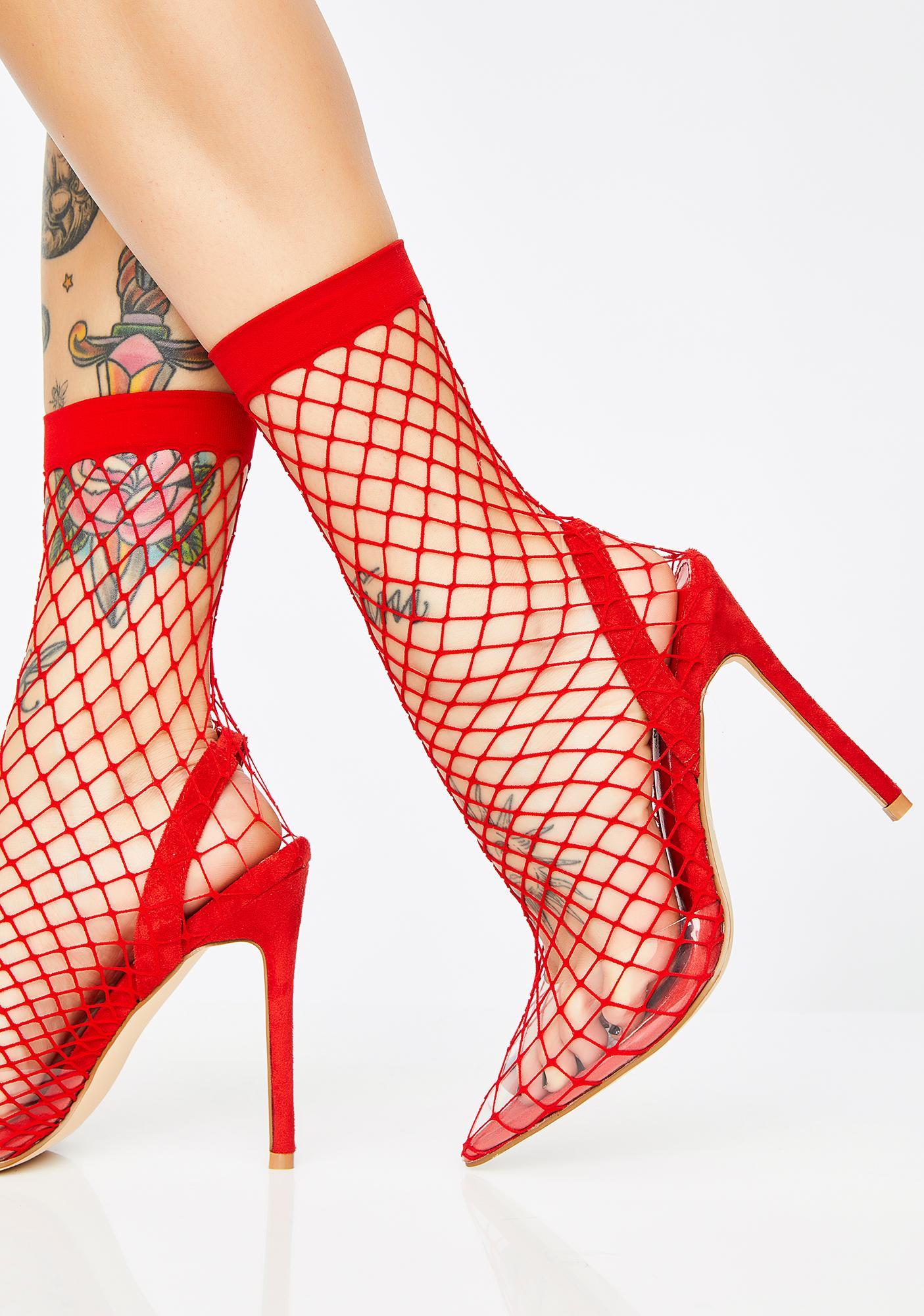 Blaze The Hott Friend Fishnet Heels
