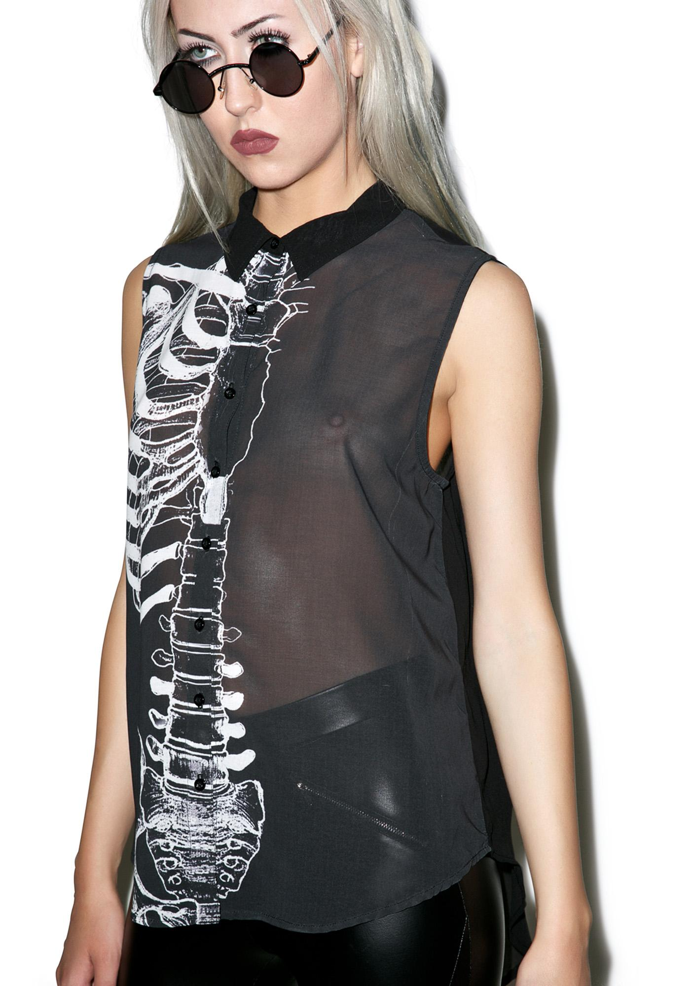 Iron Fist Wishbone Tank Blouse