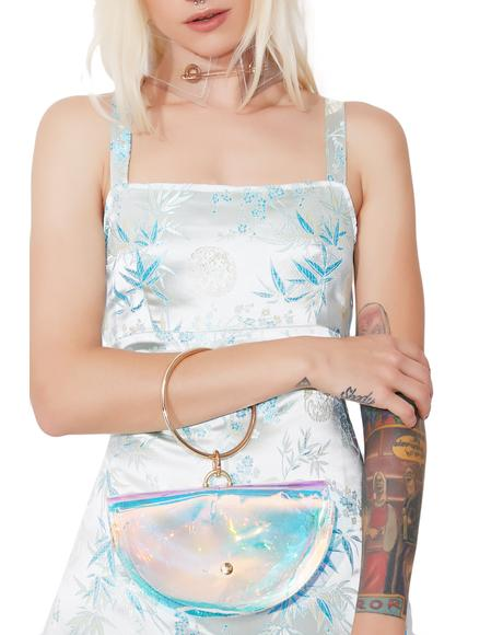 Half Mewn Iridescent Crossbody Bag