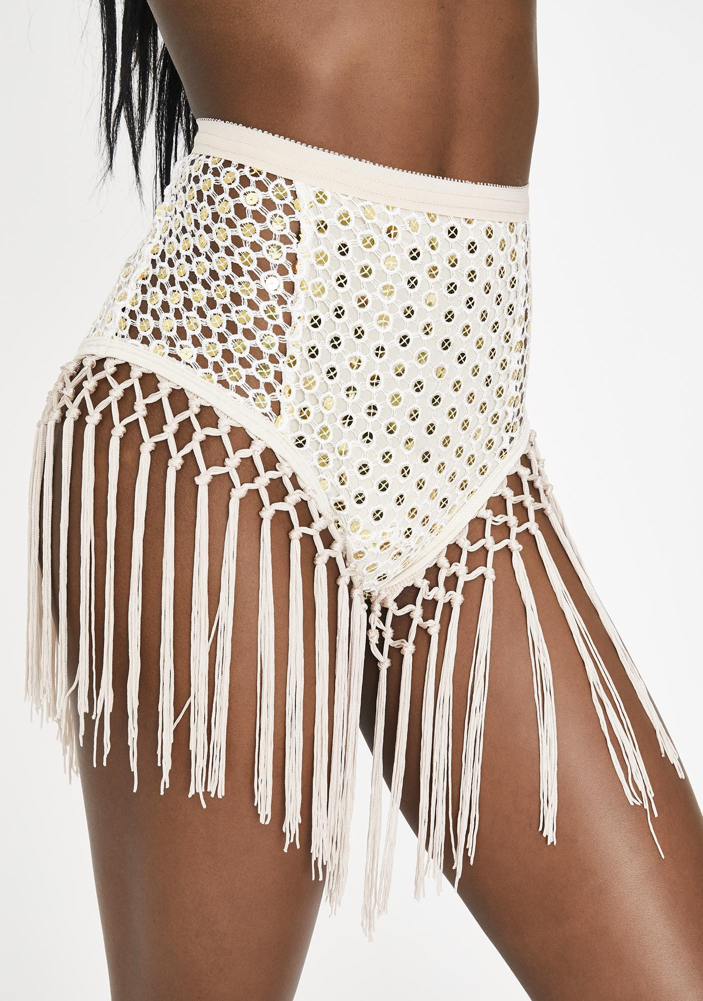 EastnWest White Mirror Verona Fringe Undies