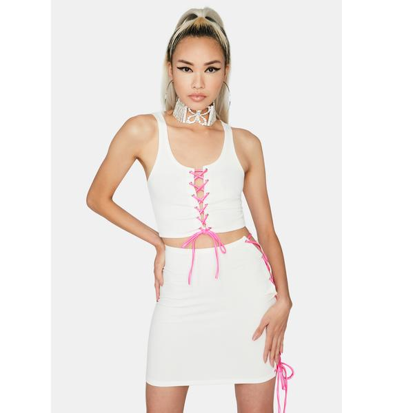 Sweet Lost Cause Lace Up Skirt