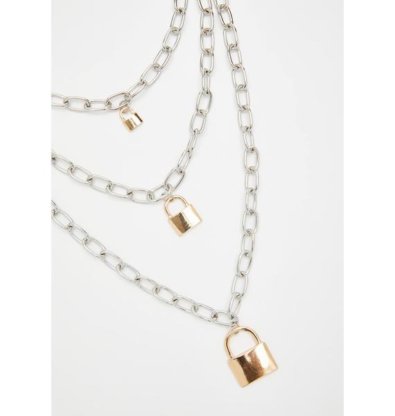 Endless Deadlock Chain Necklace