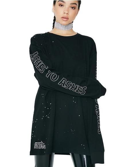 Ashes Oversized Box Long Sleeve Tee