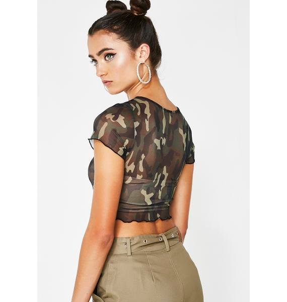 Be A Savage Camo Top