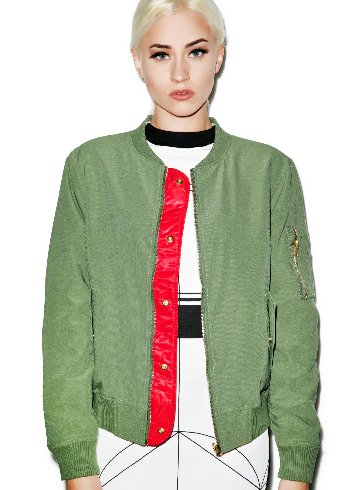 Black Scale Irene-Amelia MA-1 Jacket