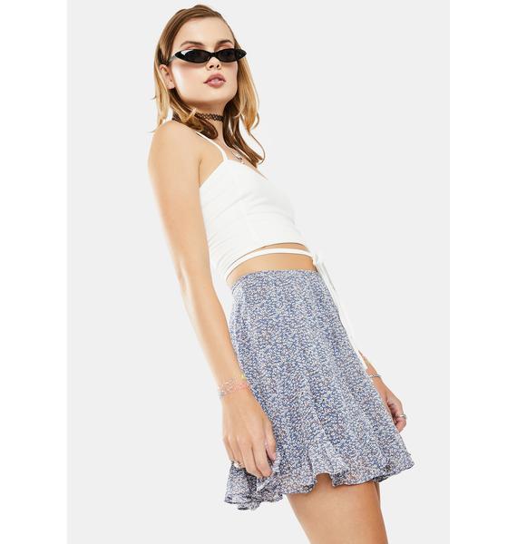 Dress Forum  Blue Floral Mini Skirt
