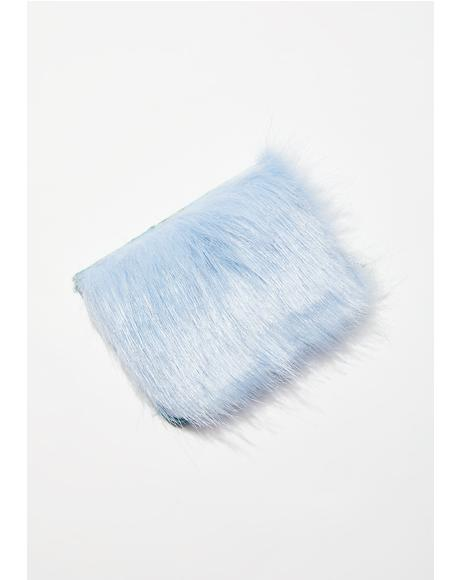 Sky Blue Fur Card Holder