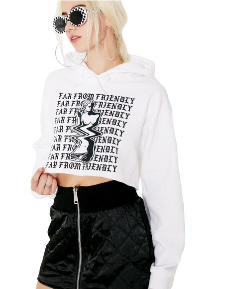 Far From Friendly Cropped Hoodie