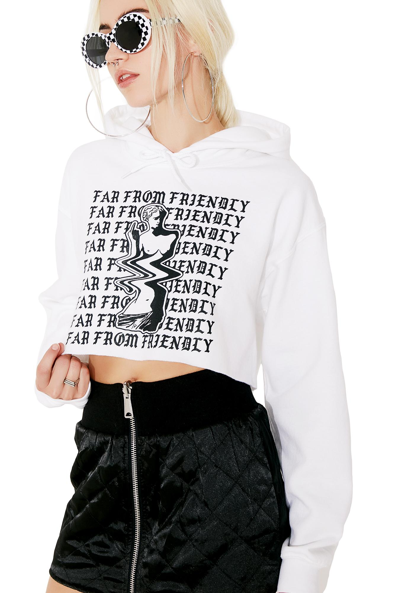 Moon River Collective Far From Friendly Cropped Hoodie