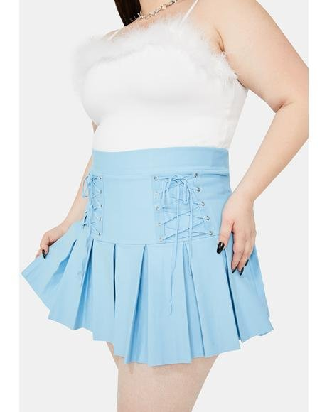 Miss Aqua Modern School Girl Pleated Skirt