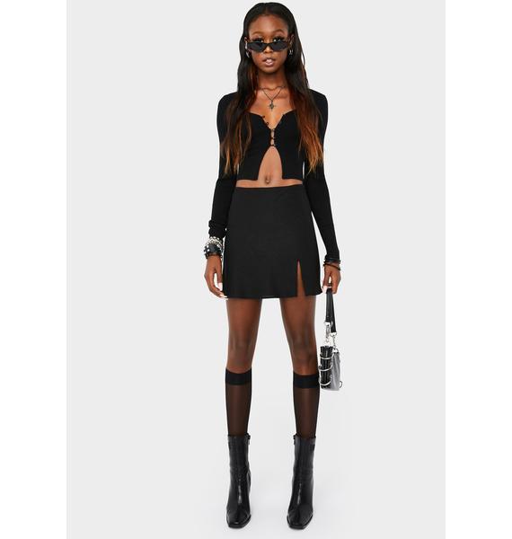 Midnight Ethereal Mood Mini Skirt