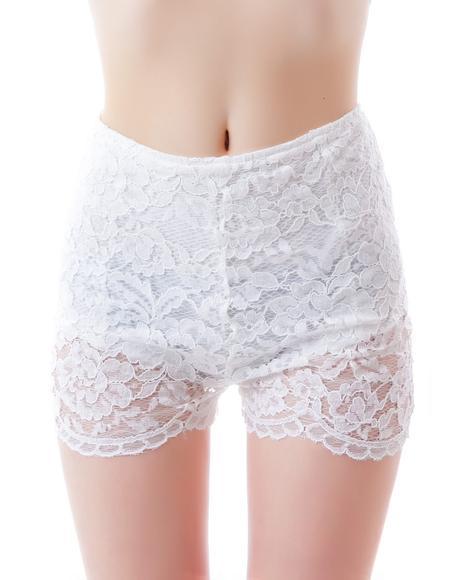 Dainty Daisy Lace Shorts