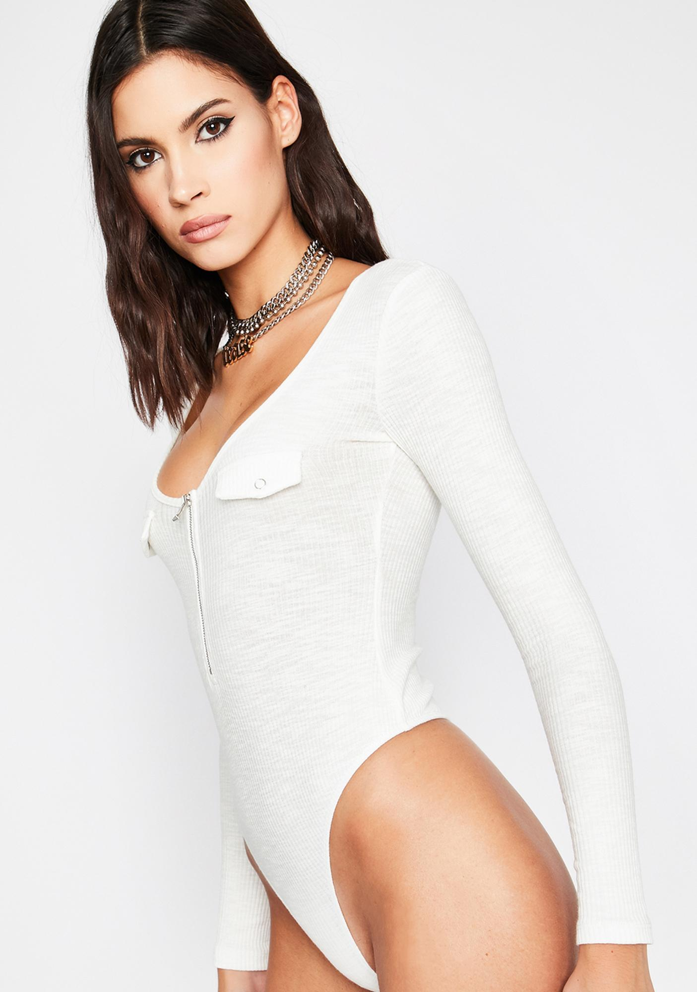 Ivory Make Moves Long Sleeve Bodysuit