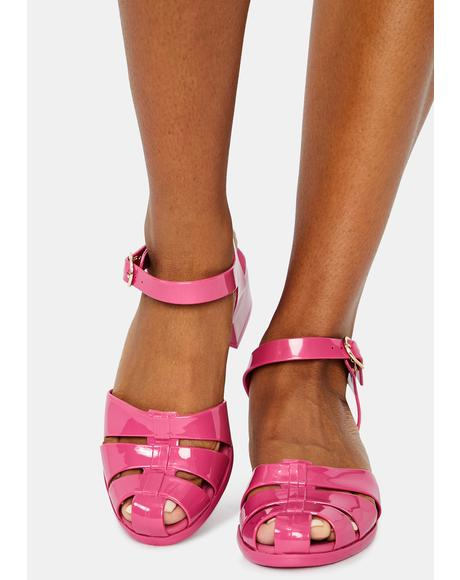 Pink Bremerton Jelly Sandals