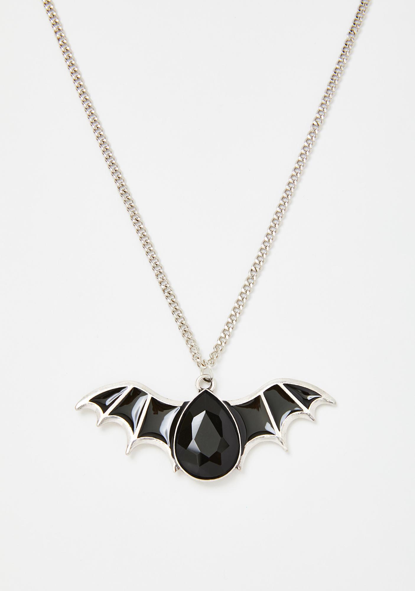 Earthly Gem Bat Necklace