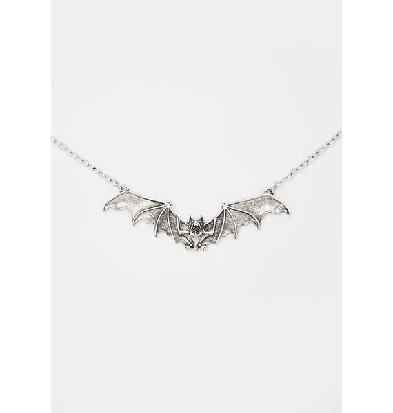 Falling Nocturne Bat Necklace
