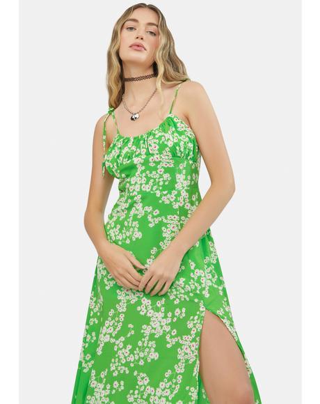Precious Petal Floral Midi Dress